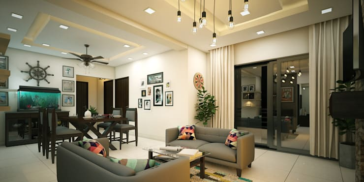 Home Interior & Architectural Designers in Kerala: asian Bedroom by Monnaie Interiors Pvt Ltd