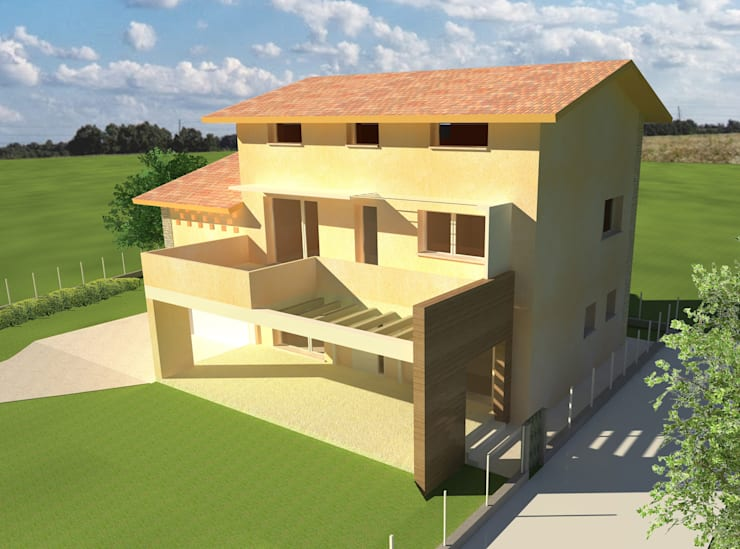 Casas de estilo  por Architetti Baggio