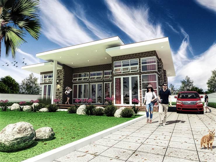 Tampak villa 2:   by bplusarsitektur