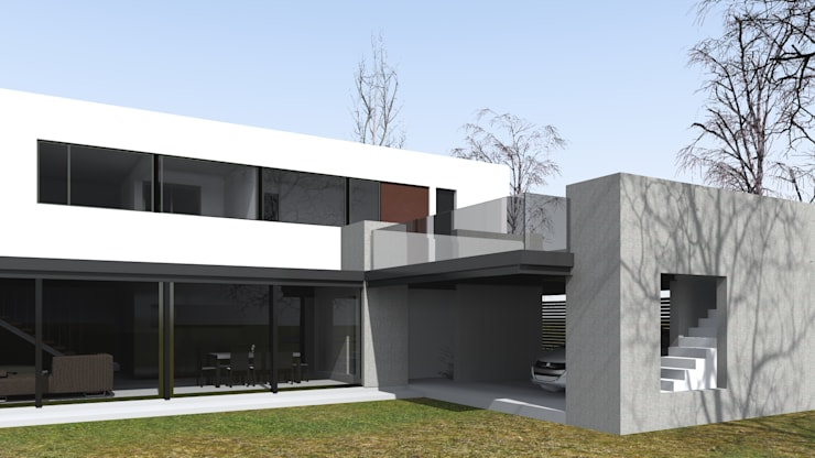 獨棟房 by BM3 Arquitectos, 簡約風 水泥
