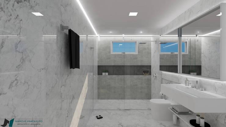 Banheiro Minimalista: Banheiro  por ITOARQUITETURA