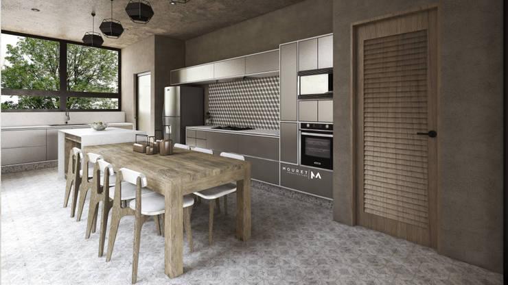 Cocinas equipadas de estilo  por Mouret Arquitectura