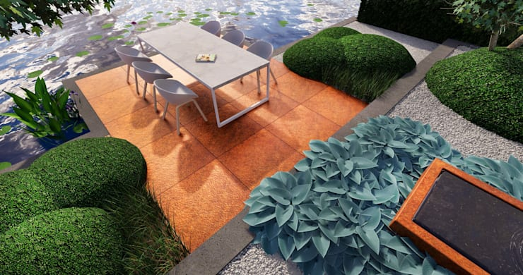 3D plan cortenstaal:   door BMT