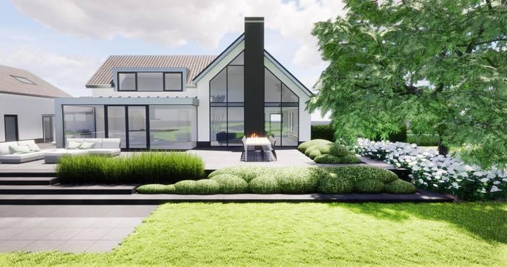 3D plan moderne villa :   door BMT