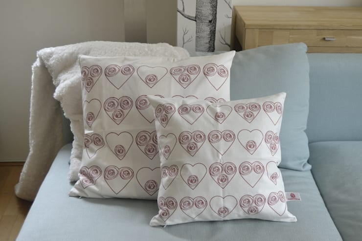 Sfeerfoto Circle hearts patroon:  Slaapkamer door ilsephilips