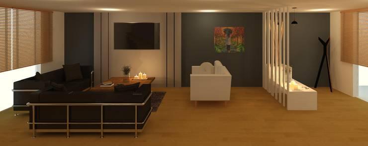 Sala - Recibidor: Salas de estilo moderno por Perfil Arquitectónico