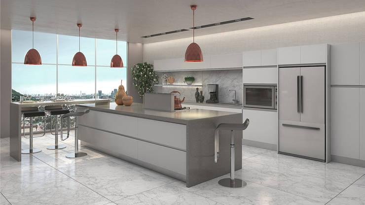 Cocina: Cocinas de estilo minimalista por Gabriela Afonso