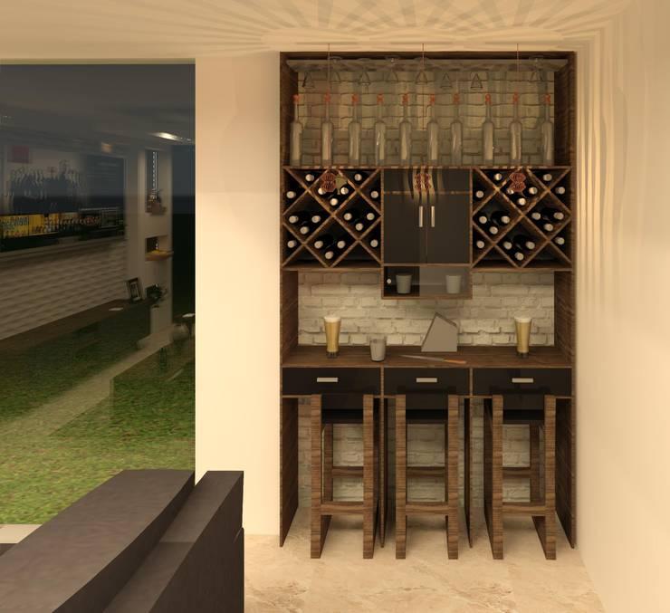 Barras de bar r sticas y modernas for Diseno de cantinas para el hogar