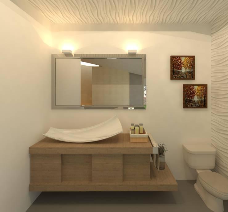 Medio baño: Baños de estilo  por Perfil Arquitectónico