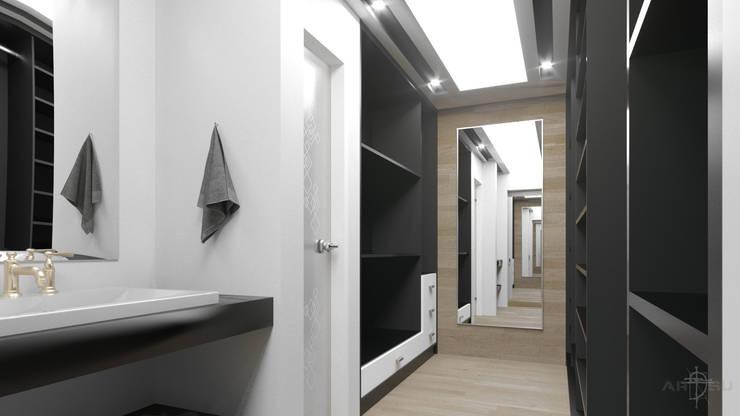 Closet - Vestidor: Vestidores y closets de estilo minimalista por ARQSU, Arquitectura e Interiorismo