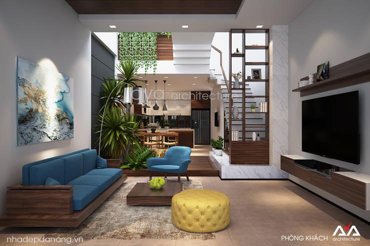 Thiết kế nhà phố đẹp Đà Nẵng:   by AVA Architecture