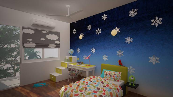 Gurumurthy Residence:  Nursery/kid's room by Designasm Studio