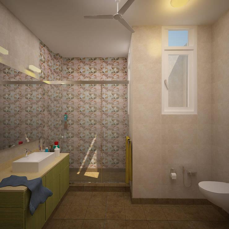 Gurumurthy Residence:  Bathroom by Designasm Studio