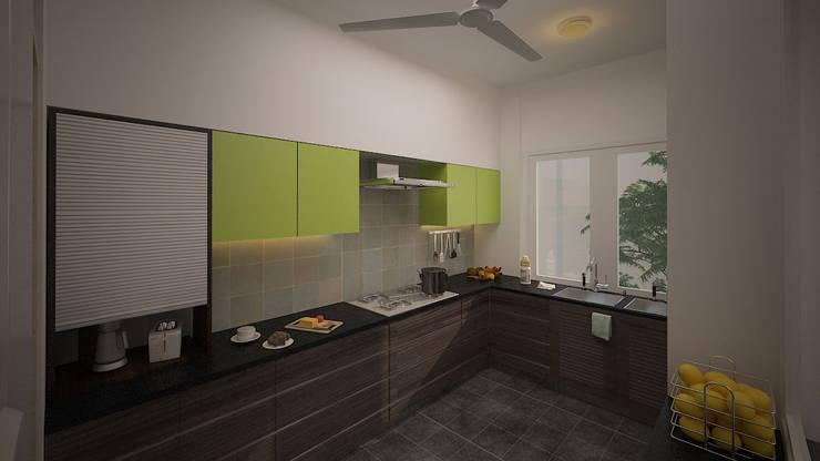 Gurumurthy Residence:  Kitchen by Designasm Studio