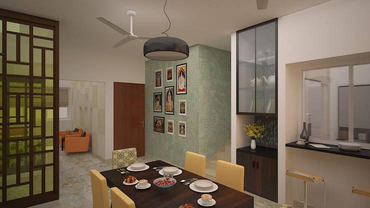 Gurumurthy Residence:  Dining room by Designasm Studio