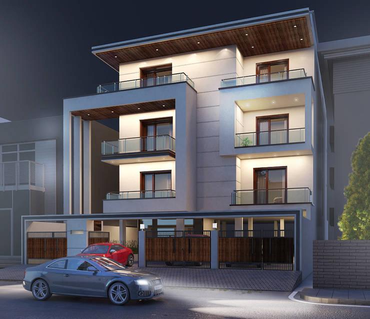 Gurumurthy Residence:  Houses by Designasm Studio