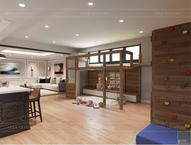 Thiết kế nội thất biệt thự 3 tầng sang trọng với phong cách hiện đại – ICON INTERIOR:  Phòng trẻ em by ICON INTERIOR