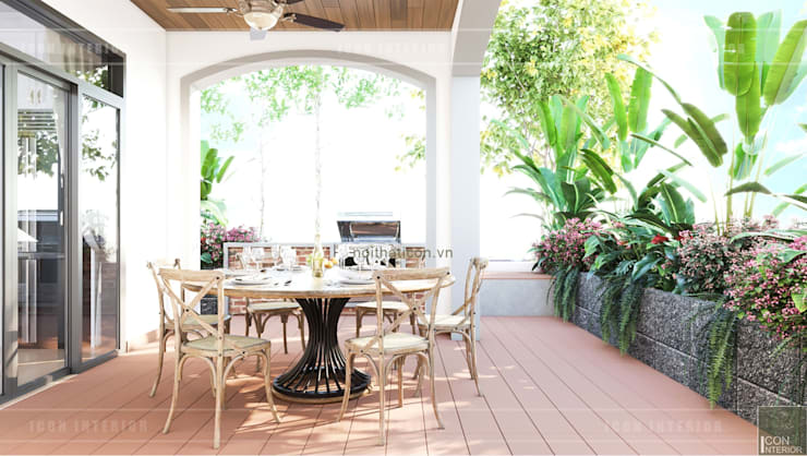 Thiết kế nội thất biệt thự 3 tầng sang trọng với phong cách hiện đại – ICON INTERIOR:  Hành lang by ICON INTERIOR