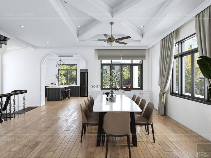 Thiết kế nội thất biệt thự 3 tầng sang trọng với phong cách hiện đại – ICON INTERIOR:  Phòng ăn by ICON INTERIOR