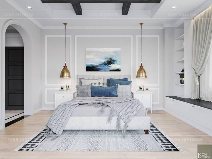 Thiết kế nội thất biệt thự 3 tầng sang trọng với phong cách hiện đại – ICON INTERIOR:  Phòng ngủ by ICON INTERIOR
