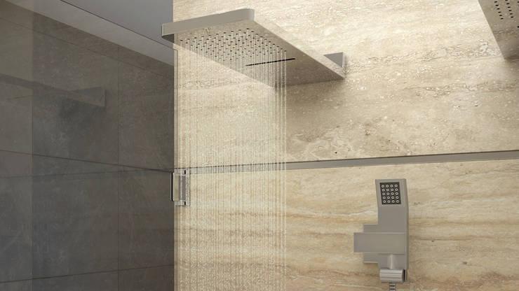 Version 1 de Ducha: Baños de estilo  por Gabriela Afonso