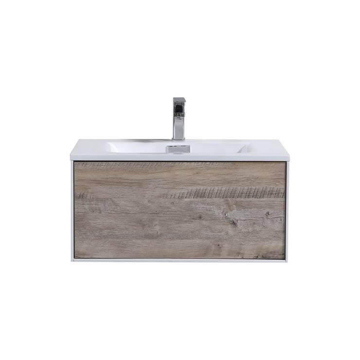 DIVARIO 30″ NATURE WOOD WALL MOUNT MODERN BATHROOM VANITY - SKU: D30NW: modern Bathroom by KubeBath