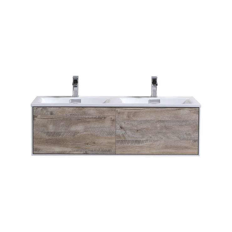 DIVARIO 48″ NATURE WOOD WALL MOUNT MODERN BATHROOM VANITY - SKU: D48DNW: modern Bathroom by KubeBath