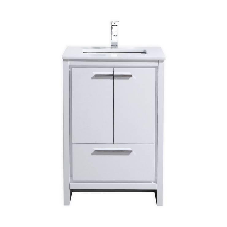 DOLCE - 24″ - HIGH GLOSS WHITE - SKU: AD624GW:  Bathroom by KubeBath
