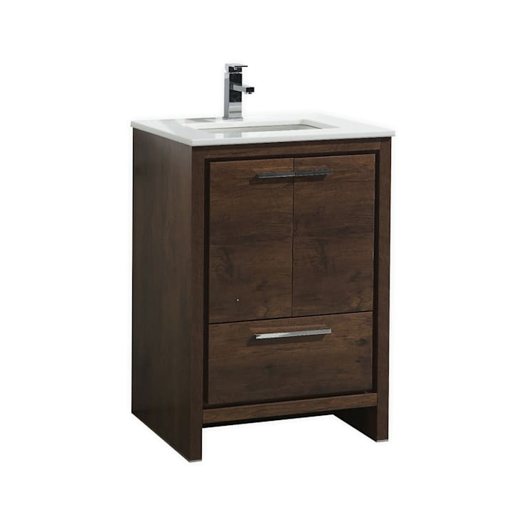 DOLCE - 24″ - ROSE WOOD - SKU: AD624RW:  Bathroom by KubeBath