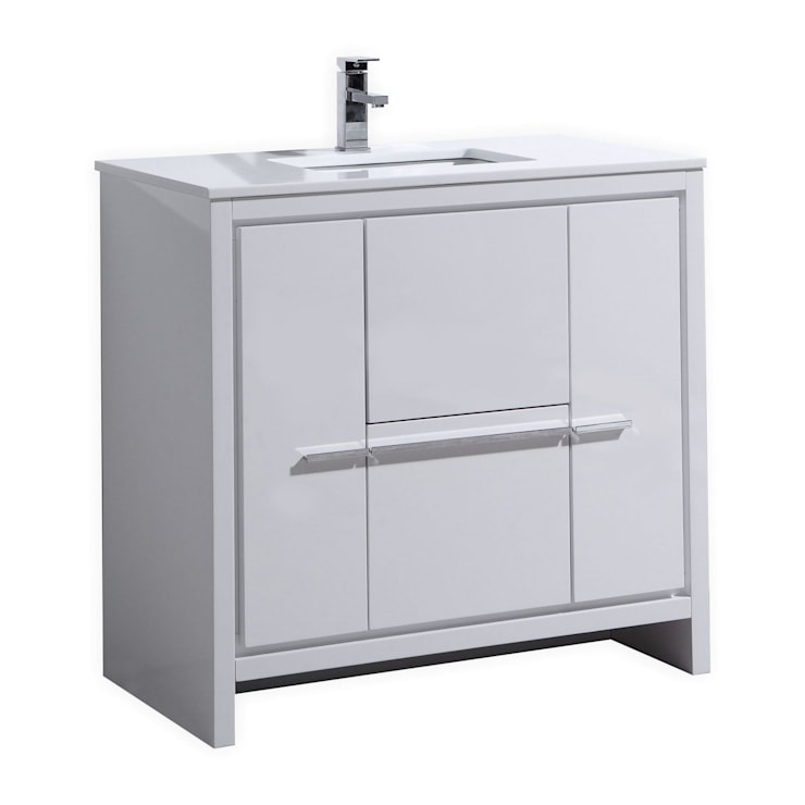 DOLCE - 36″ - HIGH GLOSS WHITE  - SKU: AD636GW:  Bathroom by KubeBath
