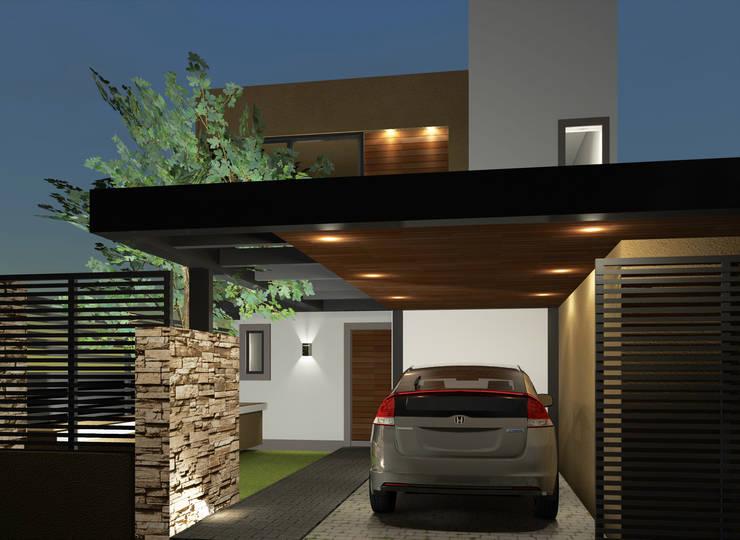 Ingreso: Casas unifamiliares de estilo  por BM3 Arquitectos