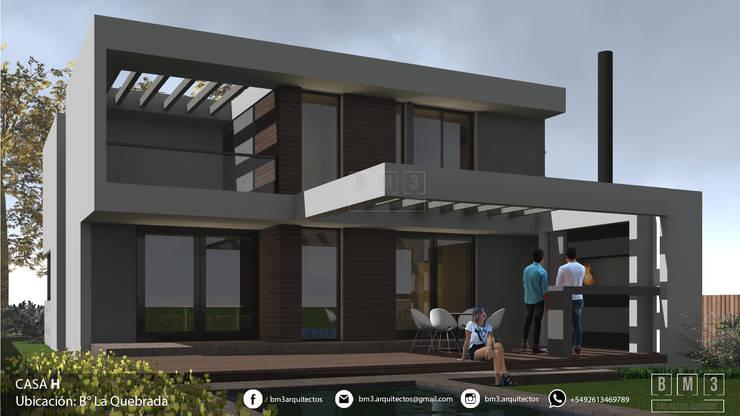 Contrafachada: Casas unifamiliares de estilo  por BM3 Arquitectos,Moderno