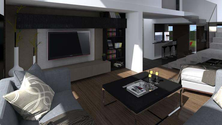Estar: Livings de estilo  por BM3 Arquitectos,Moderno