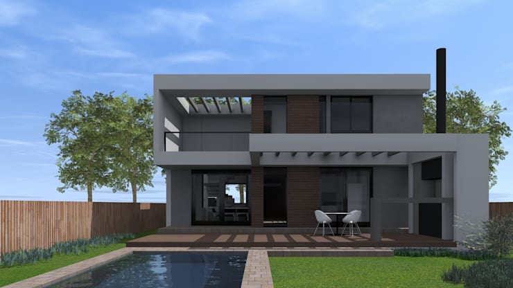 Contrafachada: Casas unifamiliares de estilo  por BM3 Arquitectos