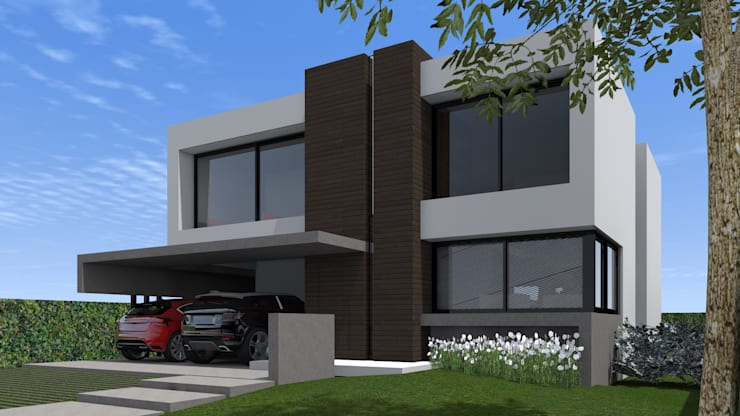 Fachada : Casas unifamiliares de estilo  por BM3 Arquitectos,Moderno