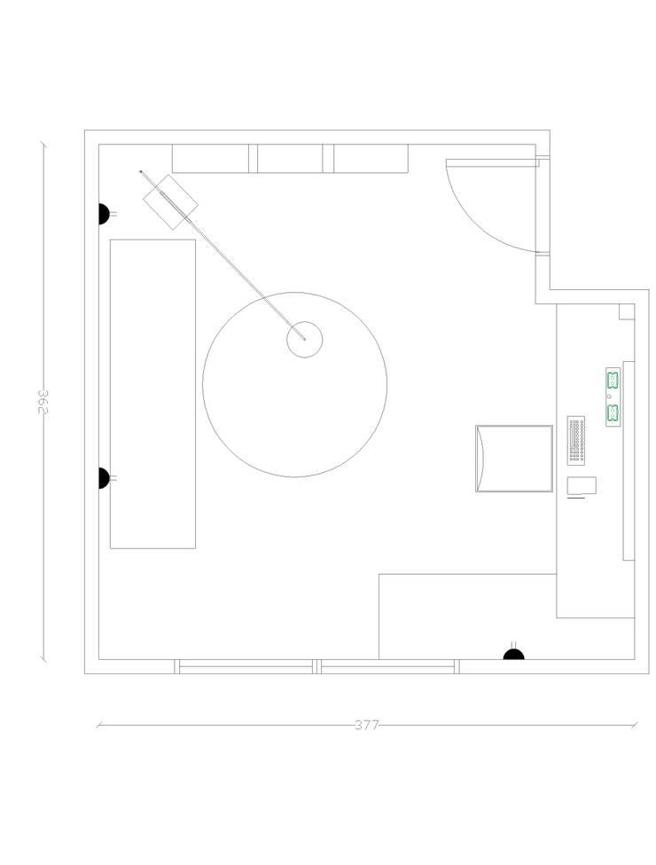 Escritorio: Estudio de estilo  por Kaa Interior | Arquitectura de Interior | Santiago