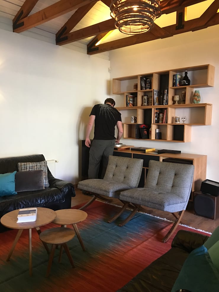 Living Familiar: Livings de estilo  por Kaa Interior | Arquitectura de Interior | Santiago