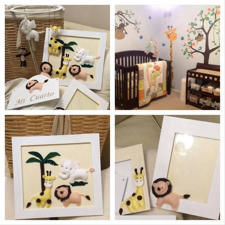 Conjunto selva para el cuarto del bebe: Dormitorios de estilo  por ANADECO - Decoradora y Diseñadora de Interiores - La Plata