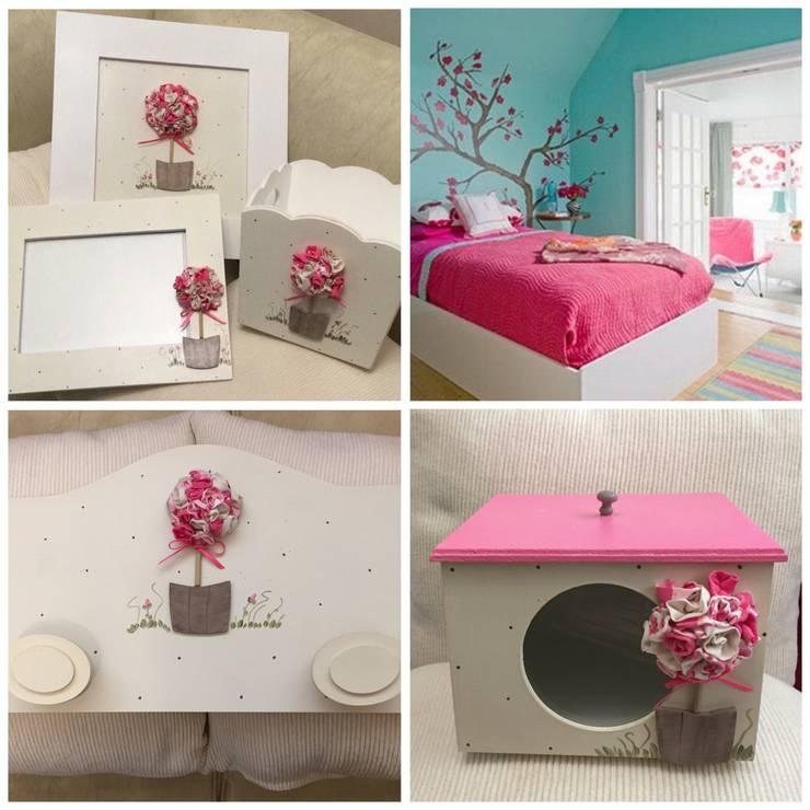 Conjunto para cuarto nena: Dormitorios de estilo  por ANADECO - Decoradora y Diseñadora de Interiores - La Plata