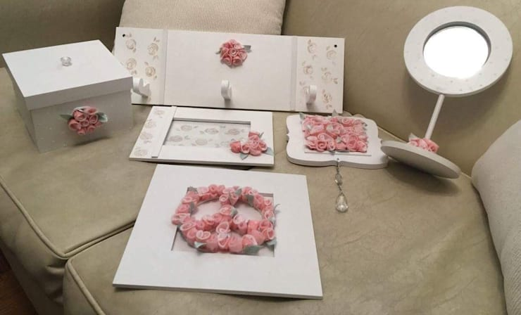 Conjunto romantico: Dormitorios de estilo  por ANADECO - Decoradora y Diseñadora de Interiores - La Plata