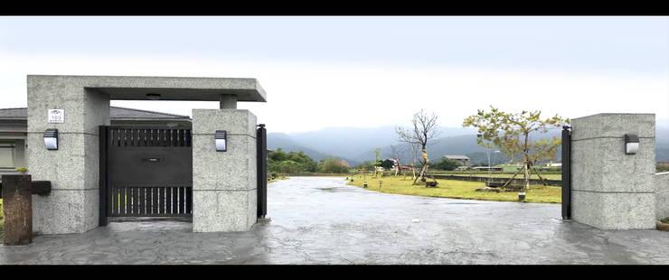 宜蘭 三星 別墅 農舍 車道 景觀 設計:  別墅 by 艾莉森 空間設計