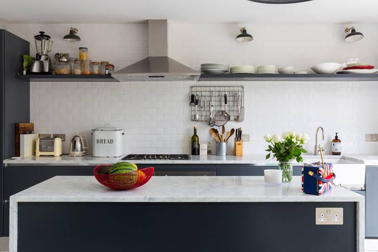 North West London Terraced House:  Kitchen units by VORBILD Architecture Ltd.