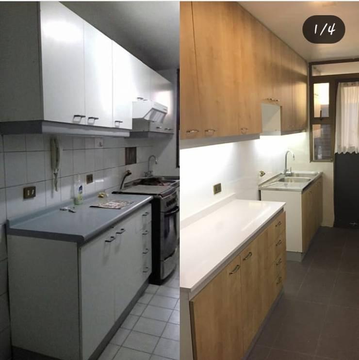 Renovación de área de equipos de cocina: Muebles de cocinas de estilo  por Tu Obra Maestra