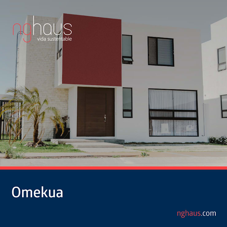 Omekua (Otra fachada): Casas ecológicas de estilo  por iQbit, SA de CV