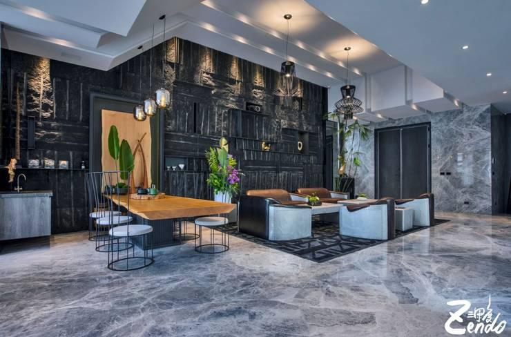 轉角的祕境:  客廳 by Zendo 深度空間設計