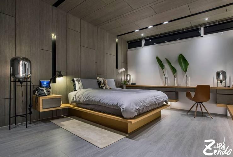 轉角的祕境:  臥室 by Zendo 深度空間設計