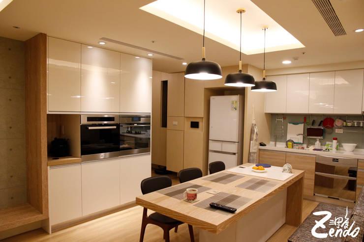 北歐‧小清新:  廚房 by Zendo 深度空間設計