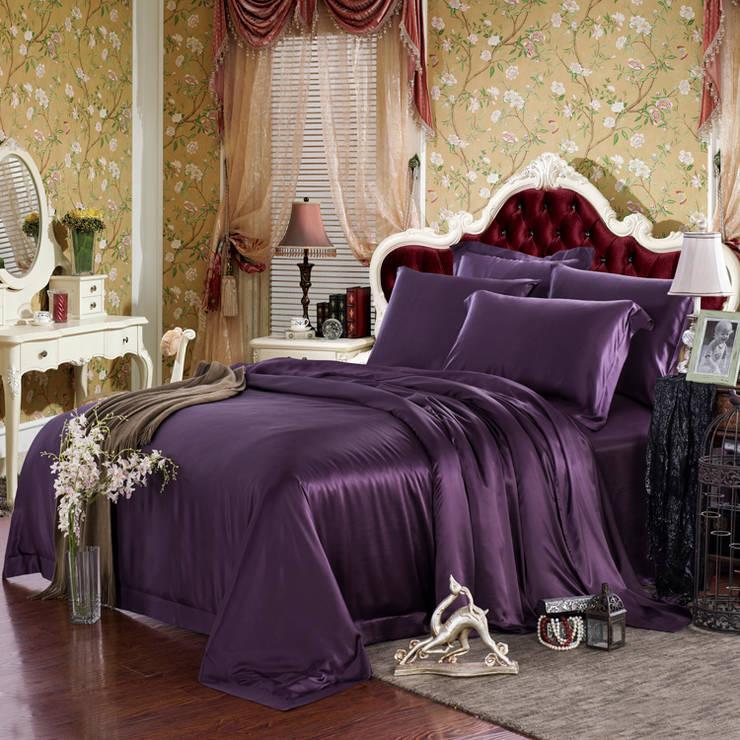 Bedroom Design, Silk Bedding: modern Bedroom by PandaSilk