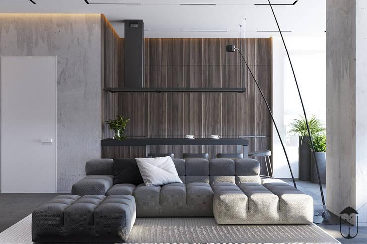 Salas de estilo minimalista de U-Style design studio Minimalista