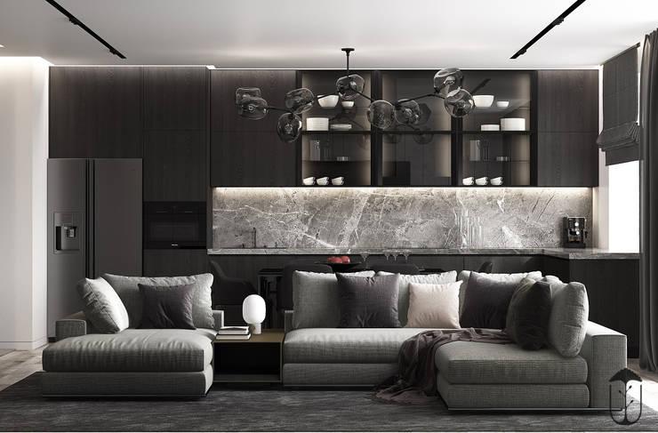 UI010: Гостиная в . Автор – U-Style design studio